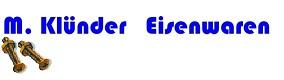 M. Klünder Eisenwaren-Logo